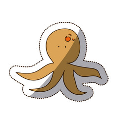 brown octopus icon stock vector image vector image