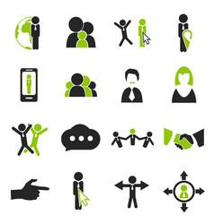 community icons set vector image