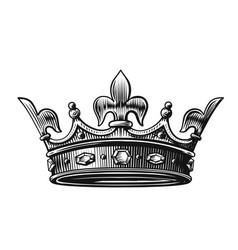 crown hand drawn vector image vector image