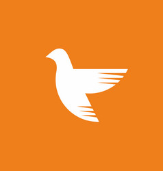 dove - a symbol of the holy spirit vector image vector image