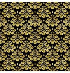 gold Damascus pattern vector image vector image