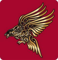 Golden bird ornament vector image vector image