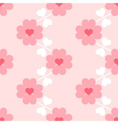 Heart flower soft seamless wallpaper vector image vector image