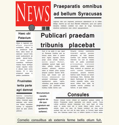 newspaper template vector image