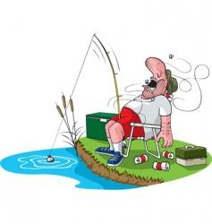 sleeping fisherman vector image vector image