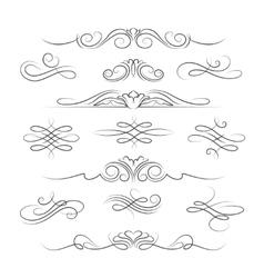 Vintage calligraphic ornate decoration elements vector image