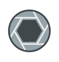 close objective icon flat style vector image vector image