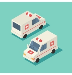isometric emergency car icon vector image