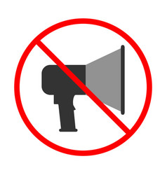 No noise sign and symbol prohibited icon vector