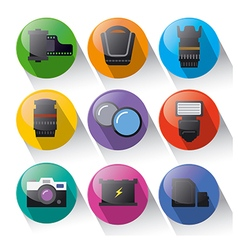photo equipment icon set vector image vector image