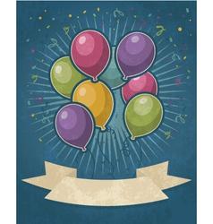 Retro Party Balloons vector image vector image
