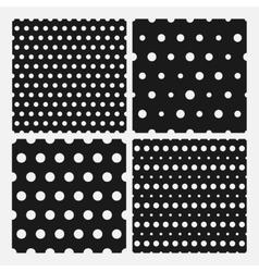 Set of senmless polka dots pattern vector image vector image