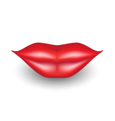 3d lips icon vector image