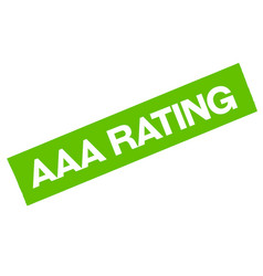 Aaa rating sticker vector