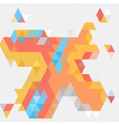 Abstract free form orange shape vector