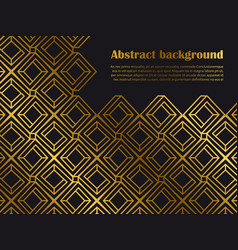 abstract minimal style background with golden vector image