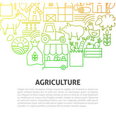 agriculture line concept vector image