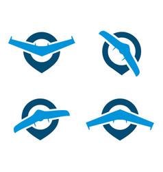 airplane drone spot logo vector image