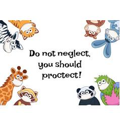 Animals in medicine masks vector