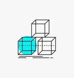 Arrange design stack 3d box line icon vector