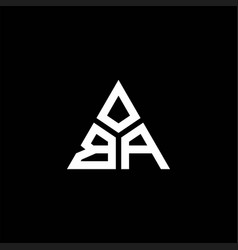 Ba monogram logo with 3 pieces shape isolated on vector