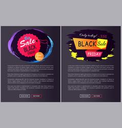 Big sale black friday choice vector