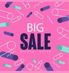 big sale pink banner template design seasonal vector image