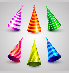 Birthday party hat set collection vector