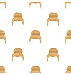 Blond hair with a shingleback hairstyle single vector
