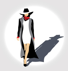 Business lady with hat vector