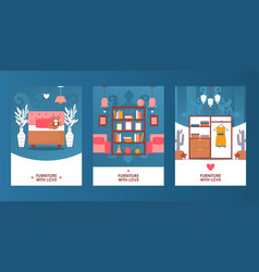 children room furniture collection store banner vector image