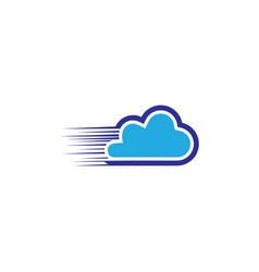cloud technology business logo vector image