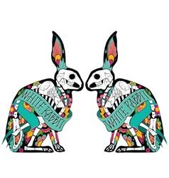 Colorful rabbits vector