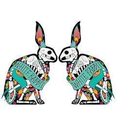 Colorfull rabbits vector image