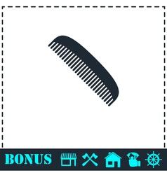 Comb icon flat vector