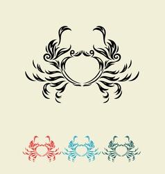 Crab decor vector image