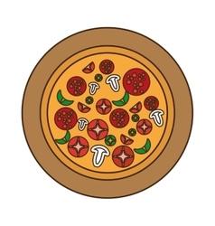 delicious italian pizza isolated icon vector image