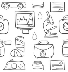 Doodle of medical element vector