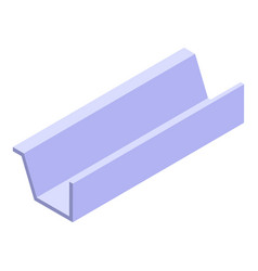 Drainage gutter icon isometric style vector