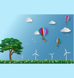 eco friendly and environment conservation concept vector image