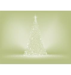 Elegant christmas tree card EPS 8 vector image