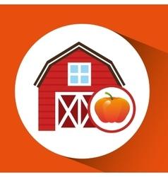 Farm and pumpkin icon vector
