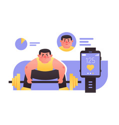 fitness and smart watches vector image