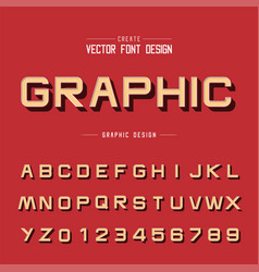Font and alphabet design typeface letter vector