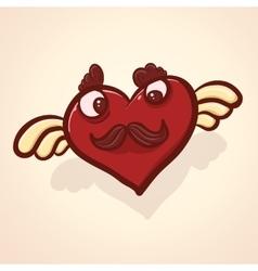 Fulish cartoon heart vector