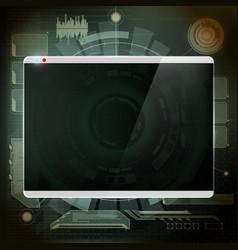 futuristic design the screen vector image