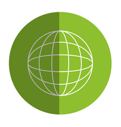 Green planet ecology icon vector