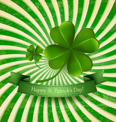 Happy St Patricks Day background with a clover vector image