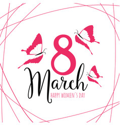 Happy womens day 8 march vector