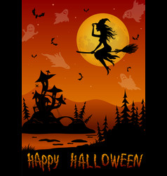 Holiday halloween background vector